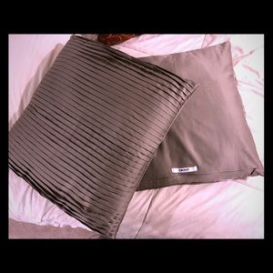 DKNY taupe accent pillows - set of 2